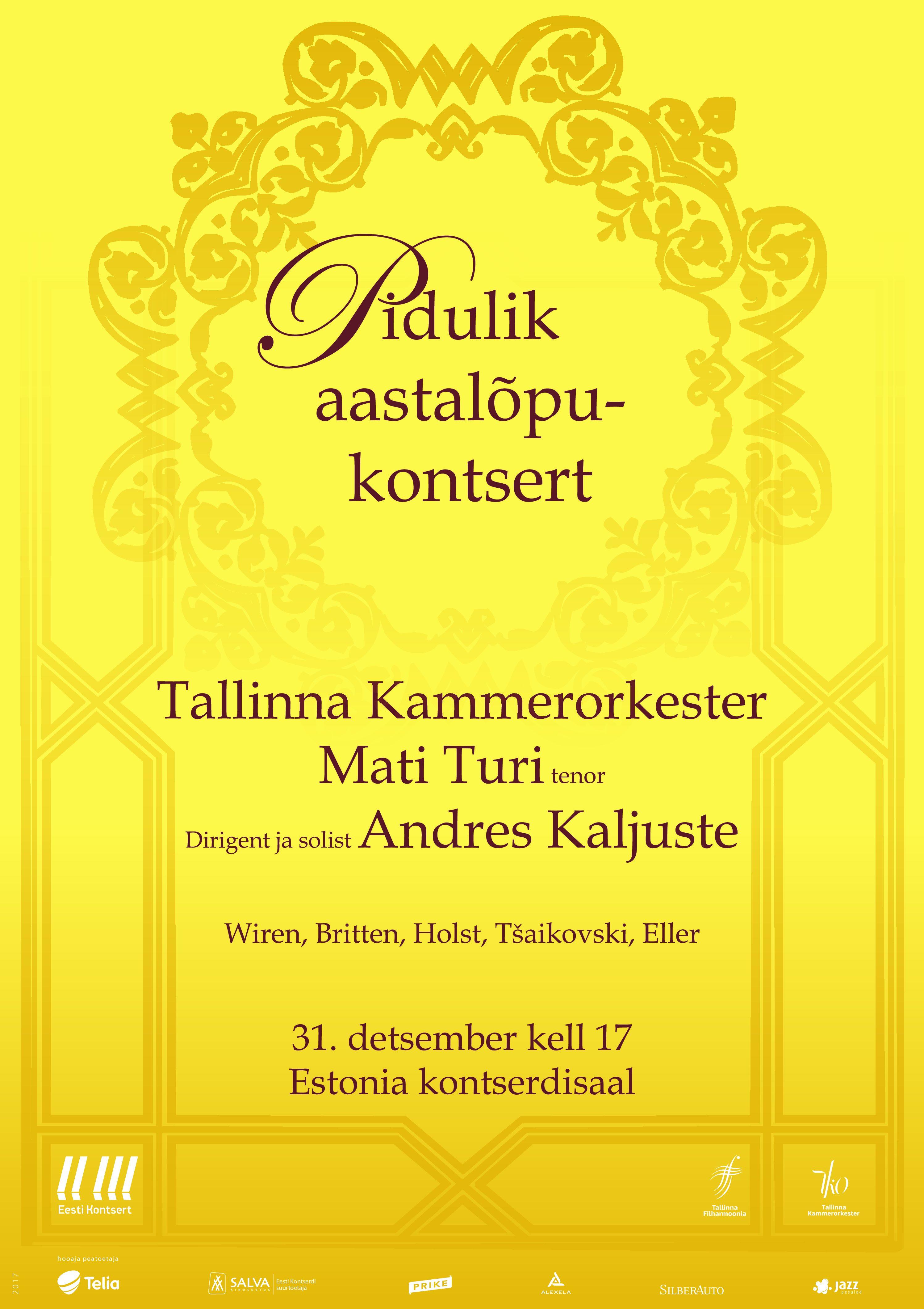 Eesti Kontserdi ja Hennessy aastalõpukontsert Tallinnas